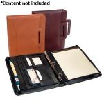 Royce Leather  'Jefferson' Zip Around Binder Padfolio - 301-BURG-5