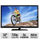 "Polaroid 32"" Class 720p LED HDTV - 1366 x 768, 60Hz, 3x HDMI, 16:9 Aspect Ratio - 32GSR3000"
