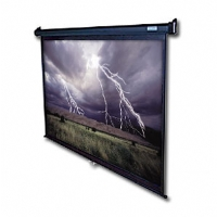 "Elite Screens M100H 100"" Diagonal 16:9 Manual Projector Screen - Black Case"