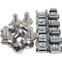 4XEM 50 Pkg M5 Mounting Screws and Cage Nuts for Server Rack Cabinet