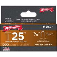 "T25 ROUND CROWN STAPLE, 7/16"" 1,000 PK"