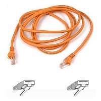 Belkin Patch cable - RJ-45 (M) - RJ-45 (M) - 3 ft - UTP - CAT 5e - stranded, snagless, booted - orange - B2B - for Omniview SMB 1x16, SMB 1x8; OmniView IP 5000HQ; OmniView SMB CAT5 (A3L791-03-ORG-S)