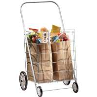 Homz 4 Wheel Large Capacity Tote Cart