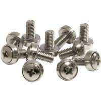 Startech M6 Mounting Screws for Server Rack Cabinet - Screw kit (pack of 50 ) - for P/N: 2POSTRACK42, 4POSTRACK12U, 4POSTRACK25U, 4POSTRACK42, RK960CP, RKQMCAB12, (CABSCREWSM6)