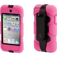 Griffin Survivor Carrying Case for iPod - Pink, Black