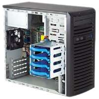 Supermicro SuperServer 5037C-I Barebone System Mid-tower - Intel C202 Chipset - Socket H2 LGA-1155 - 1 x Processor Support - Black