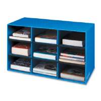 FELLOWES, INC 9 Compartment Classroom Cubby, 16x28-1/4x13, Blue