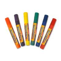 BOARD DUDES Tempera Pain Pens, Washable, 1.7 oz., Assorted