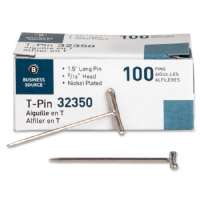 Business Source High Quality Nickel-finish T-Pin