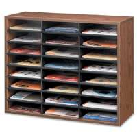 Literature Organizers, 24 Sections, 29 x 11 7/8 x 23 7/16, Medium Oak