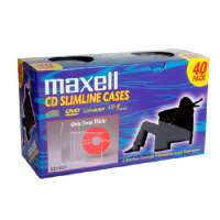 Maxell CD-365 Slimline Jewel Cases