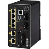 Cisco Industrial Ethernet 2000 Series - Switch - managed - 4 x 10/100 + 2 x Gigabit SFP - DIN rail (IE-2000-4TS-G-B)