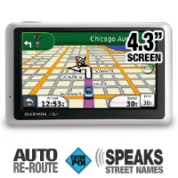"Garmin Nuvi 1350 Auto GPS - 4.3"" Touch Screen Display, Text To Speech, North America Maps (Refurbished - Open Box) (010-N0782-20)"