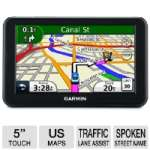 "Garmin Nuvi 50LM GPS - 5"" LCD, Touchscreen, Spoken Street Names, Lane Assist, Speed Limit Indicator, 5 Million Points of Interest, Lifetime US Maps (Refurbished)"