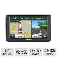 Garmin nuvi 2555LMT Auto GPS - 5&quot; Touchscreen, MicroSD Slot Card, Spoken Streets Names, Custom POIs, Lifetime Maps, Lifetime Traffic, North America Maps 