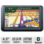 "Garmin N�vi� 465T 010-N0786-00 Truck & Automotive GPS - 4.3"" Touchscreen, SD Card Slot, Lifetime Traffic, Lane Assist, ecoRoute, Multiple Destination, Speed Limit Indicator, Custom POI's (Refurbished)"