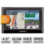 "Garmin Nuvi 44LM Automotive GPS - 4.3"" Display, US & Canada Maps, MicroSD Slot, Voice Prompt, Lane Assist, Speed Limit Indicator, Custom POI's (010-01114-03)"