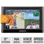 "Garmin Nuvi 52LM Automotive GPS - 5"" Display, North America Maps, Free Lifetime Updates, MicroSD Slot, Voice Prompt, Speed Limit Indicator, Custom POI's (010-01115-01)"