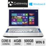 "Gateway NV76R23u NX.Y2DAA.005 Notebook PC - 3rd generation Intel Core i5-3210M 2.5GHz, 4GB DDR3, 500GB HDD, DVDRW, 17.3"" Display, Windows 8 64-bit, White"
