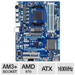 GIGABYTE GA-970A-D3 AMD 9 Series FX Motherboard - ATX, Socket AM3+, AMD 970 Chipset, 2000MHz DDR3 (O.C.), SATA III (6Gb/s), RAID, 7.1-CH Audio, Gigabit LAN, SuperSpeed USB 3.0, CrossFireX Ready