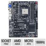 GIGABYTE GA-F2A85X-UP4 AMD A Series Motherboard - ATX, Socket FM2, AMD A85X Chipset, 1866MHz DDR3, SATA 6Gb/s, RAID, 7.1-CH Audio, Gigabit LAN, USB 3.0, CrossFireX Ready, AMD Dual Graphics Ready