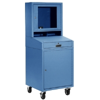Global Industrial 239115BL Mobile Security Cabinet - Blue