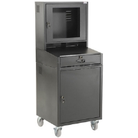 Global Industrial 239115BK Mobile Security Cabinet - Black