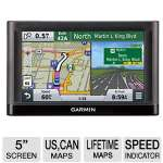 "Garmin nuvi 56LMT GPS Navigator - 5"" Display, idescreen, Lifetime Maps, Spoken Street Names, Lane Assist, Speed Limit Indicator - 010-01198-05"