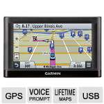 "Garmin nuvi 65LMT GPS Receiver - 6.1"" Display, Speaker, MicroSD Card, Turn-By-Turn Navigation, Lane Assist, Voice Prompt, USB, Lifetime Map Updates, Lifetime Traffic Updates - 010-01211-04"