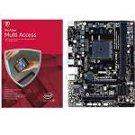 Gigabyte Micro-ATX Motherboard - GA-F2A68HM-H and McAfee 2015 Multi-Access 1 User 5 Devices - MMD15E Bundle