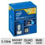 Intel� Core� i5-4440 Quad Core Processor - 3.1 GHz (3.3 GHz Max Turbo), 6MB L3 Cache  - BX80646I54440