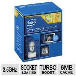 Intel Core i5-4690 Processor - Quad Core, 6MB Smart Cache, 3.5GHz, LGA-1150 Socket, 22nm - BX80646I54690