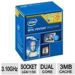 Intel Pentium G3240 Dual Core Desktop Processor - 3.10 GHz, Socket H3 LGA-1150, 3MB Smart Cache, 53W - BX80646G3240