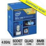 Intel Core i7-4790K Processor - Quad Core, 4.0GHz (8MB Cache, up to 4.10 GHz), 2 Memory Channels, 16 Max PCI Express Lanes - BX80646I74790K