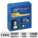 Intel Core i7-5930K CPU - Six Cores, 3.5GHz, Unlocked, 15MB Cache, 4 Channels DDR4, 140W, Socket 2011-v3 - BX80648I75930K