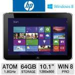 "HP ElitePad 900 D3H85UT Tablet - Intel Atom Z2760 1.8GHz, 2GB Memory, 64GB eMMC, 10.1"" Multi-Touch, Windows 8 Pro 32-bit, WiFi, Dual Webcams"