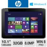 "HP ElitePad 900 D3H88UT Tablet - Intel Atom Z2760 1.8GHz, 2GB Memory, 32GB eMMC, 10.1"" Multi-Touch, Windows 8 Pro 32-bit, WiFi, Dual Webcams"
