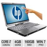 HP EliteBook 2760p B2C42UT Tablet PC - Intel Core i7-2640M 2.8GHz, 4GB DDR3, 160GB SSD, 12.1&quot; Touchscreen, Windows 7 Professional 64-bit