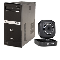 HP Compaq 505B VS785UT Desktop PC and Microsoft LifeCam VX-2000 Webcam Bundle