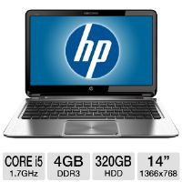 HP ENVY Pro B8U90UT Ultrabook - 3rd generation Intel Core i5-3317U 1.7GHz, 4GB DDR3, 320GB HDD + 32GB mSATA SSD, 14&quot; Display, Windows 7 Professional 64-bit