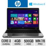 "HP ProBook 4540s Notebook PC - 3rd generation Intel Core i3-3110M 2.4GHz, 4GB DDR3, 500GB HDD, DVDRW, 15.6"" Display, Windows 7 Pro 64-bit / Windows 8 Pro 64-bit (C6Z36UT)"