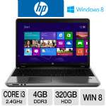 "3rd generation Intel Core i3-3110M 2.4GHz, 4GB DDR3, 320GB HDD, DVDRW, 15.6"" Display, Windows 8 64-bit"