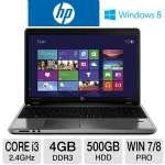 "HP ProBook 4540s Notebook PC - 3rd generation Intel Core i3-3110M 2.4GHz, 4GB DDR3, 500GB HDD, DVDRW, 15.6"" Display, Windows 7 Professional 64-bit / Windows 8 Pro 64-bit (C9K70UT#ABA)"