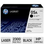 HP 05A CE505A Black LaserJet Toner Cartridge - Approx 2,300 Pages