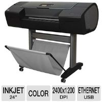 "HP Designjet Z2100 Q6675D Large Format Photo Printer - 24"" Wide Format, Up to 2400 x 1200 Optimized dpi, 80 GB HDD, 128 MB, Ethernet, USB 2.0, 8 Colors"