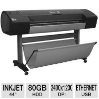 "HP Designjet Z3200 Q6719B Large Format Photo Printer - 44"" Wide Format, Up to 2400 x 1200 Optimized dpi, 80 GB HDD, 256 MB, Ethernet, USB 2.0, 12 Colors"