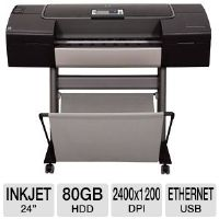 "HP Designjet Z3200ps Q6720B Large Format Photo Printer (Post-Script) - 24"" Wide Format, Up to 2400 x 1200 Optimized dpi, 80 GB HDD, 256 MB, Ethernet, USB 2.0, 12 Colors"
