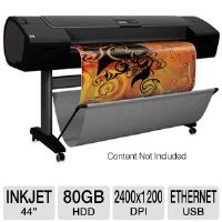 "HP Designjet Z2100 Q6677D Large Format Photo Printer - 44"" Wide Format, Up to 2400 x 1200 Optimized dpi, 80 GB HDD, 128 MB, Ethernet, USB 2.0, 8 Colors"