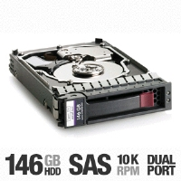"HP 418367-B21 Hot-Plug 3G SAS Hard Drive - Dual Port Enterprise, 146GB, 2.5"", 10K rpm, For ProLiant Servers"