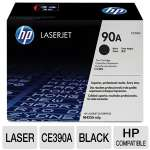 HP 90A CE390A Black LaserJet Toner Cartridge - Approx 10,000 page yield.